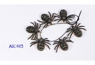 Antique Style Spider Charm Finding .925 Sterling Silver with Oxidized Pave Diamonds
