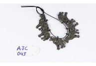 Antique Style Horse Charm Finding .925 Sterling Silver with Oxidized Pave Diamonds