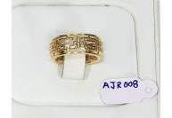 Victorian Style Eternity Gold Plated Band Ring  .925 Sterling Silver with Pave Diamonds